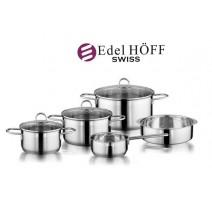 """Šveicariškas """"EDEL HOFF SWISS"""" 10 dalių puodų rinkinys"""