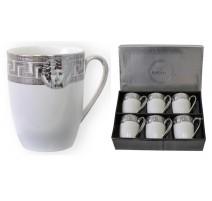"""""""Bohmann"""" sidabro spalvos porcelianinių puodelių rinkinys (6 vnt.)"""
