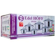 12 Dalių Puodų Rinkinys EDEL HOFF SWISS