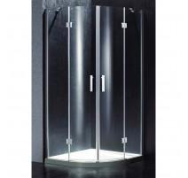 Dušo kabina BEF14 pilka be pado(tik stiklai)